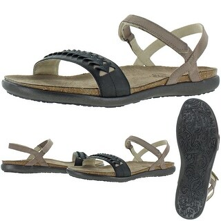 Link to NAOT Women's Mable Leather Strappy Casual Flat Sandals - Stone/Oil Coal/Khaki Similar Items in Women's Shoes