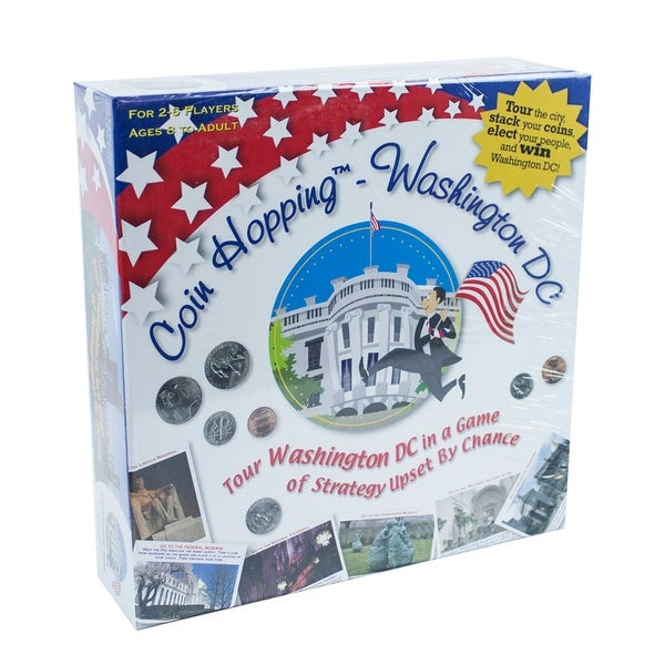 Coin Hopping - Washington DC Board Game - Multi-Color