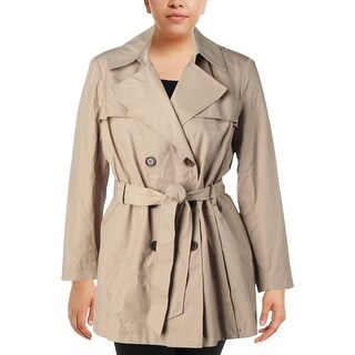 Via Spiga Womens Plus Trench Coat Fall Double Breasted - 1x