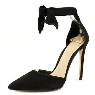 Aldo States Women Pointed Toe Leather Black Heels