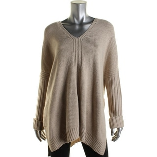 Vince Womens Wool Blend V-Neck Poncho Sweater - L