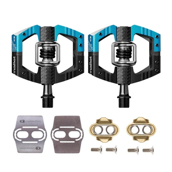 Crank Brothers Mallet Bike Pedals (Black/Blue) w/Cleats & Shoe Shields. Opens flyout.