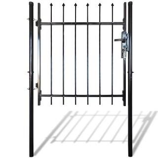"vidaXL Single Door Fence Gate with Spear Top 39""W x 59""H"