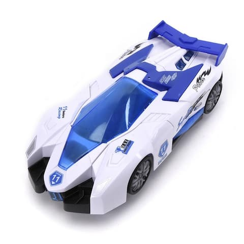 Buy Wonder Products Bump & Go Action! Speed Racer Car, Transpower Aircraft 5 Lights With Light & Music 3 Year + - White