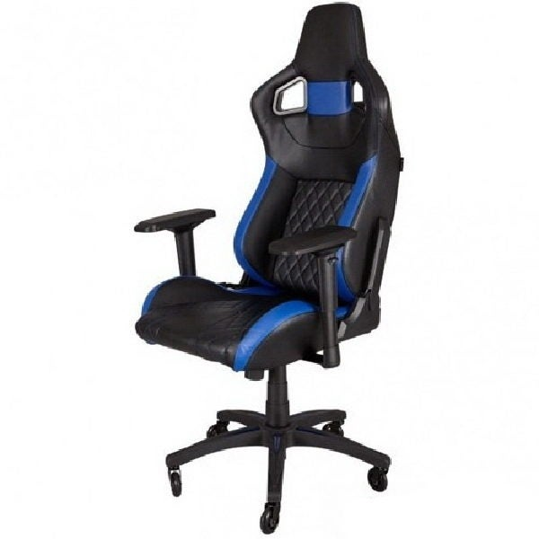 Corsair Cf-9010014-Ww T1 Race Gaming Chair Black/Blue High Back Desk  sc 1 st  Overstock.com & Shop Corsair Cf-9010014-Ww T1 Race Gaming Chair Black/Blue High Back ...