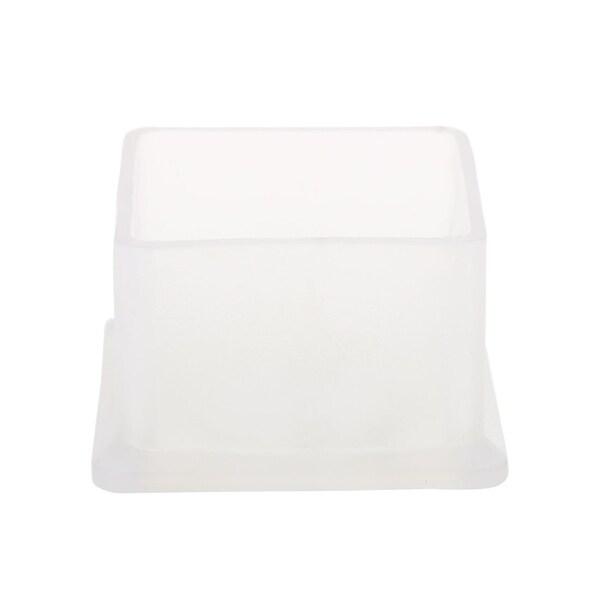 """Clear Chair Leg Cap Pad Feet Cover Furniture Floor Protector 1""""x1"""" (25x25mm)"""
