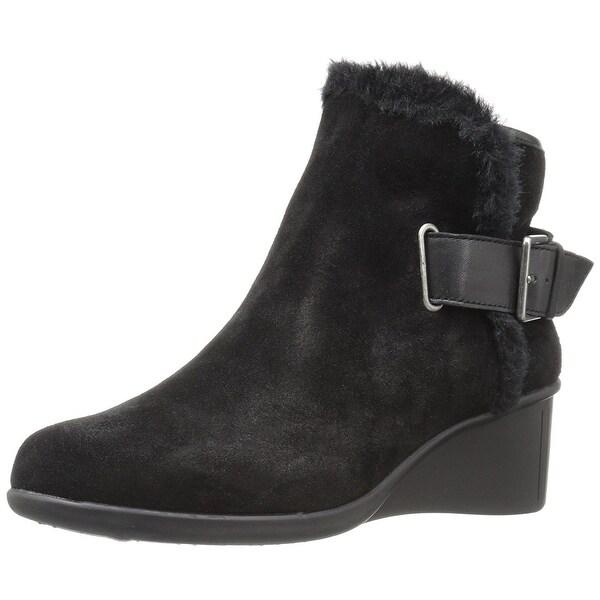 d3b1d9e26 Shop Aerosoles Womens gravel Leather Almond Toe Ankle Fashion Boots ...