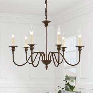 "Link to The Gray Barn Windy Bracken 6-light Chandelier Candle Foyer Pendant - W26.5""x H19.5"" Similar Items in Chandeliers"