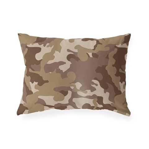 CAMO FLOW BROWN Lumbar Pillow By Kavka Designs