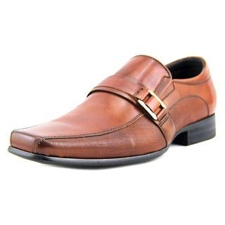 Kenneth Cole NY Magic-Ly Men  Apron Toe Leather Brown Loafer