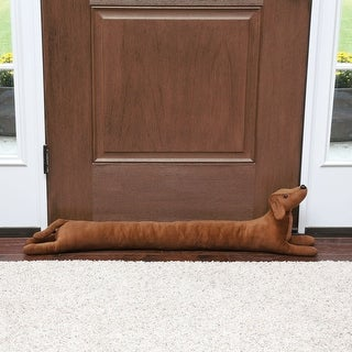 """What On Earth Dachshund Draft Dodger - Dog Shaped Weighted Door/Window Breeze and Bug Guard, Noise Reducer - 41.5"""" Long"""