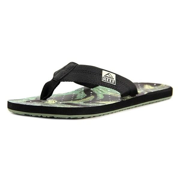 Reef HT Prints Men Open Toe Synthetic Black Thong Sandal