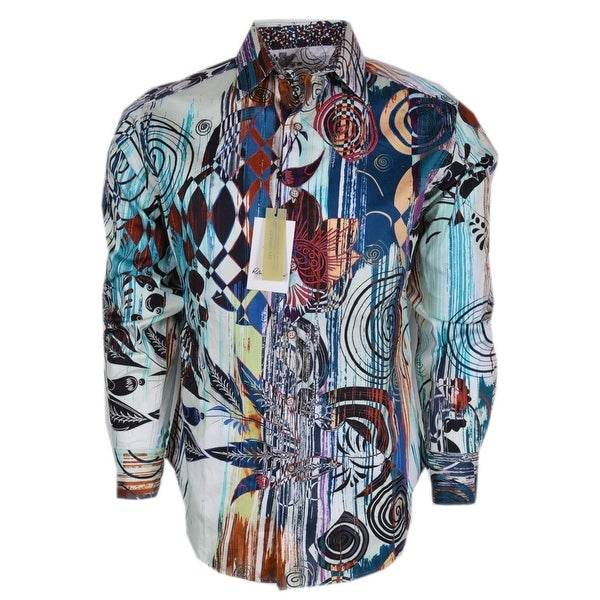 Robert Graham BORREGO Geometric Print Cotton Classic Fit Sports Shirt