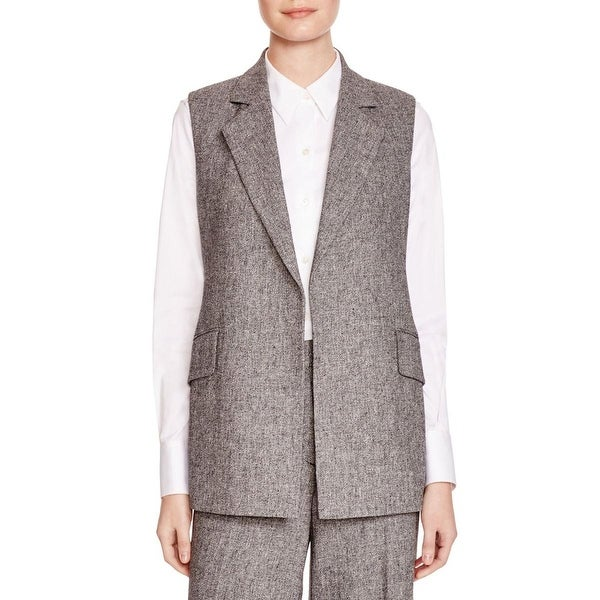 Shop Theory Womens Suit Vest Polyester Marled 0 Free Shipping