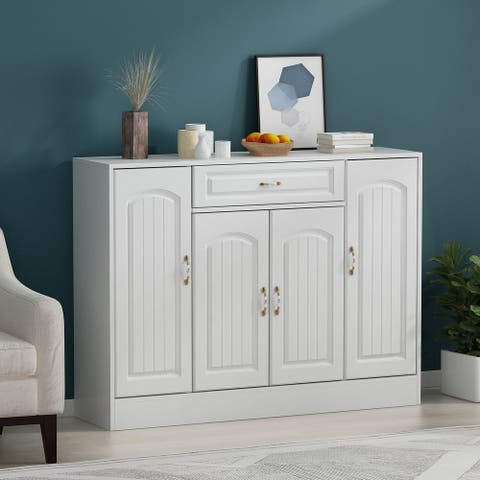Modern 1-Drawer Solid Wood Shoe Cabinet Storage Table