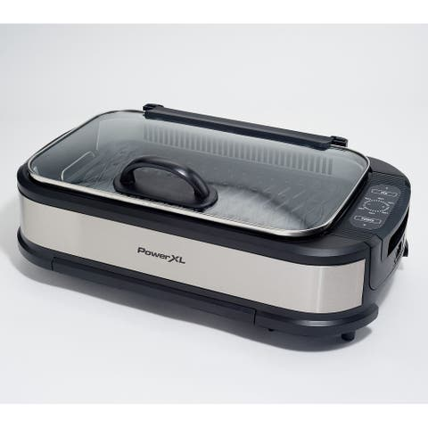 PowerXL 1500W Smokeless Grill Pro with Griddle Plate Model K50547