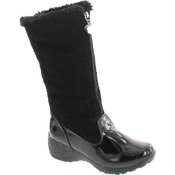 Khombu Women's Amber-Kh Cold Weather Boots - black patent combo