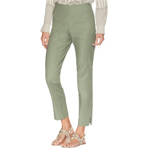 Vince Camuto Womens Vented Cuff Casual Trouser Pants, Green, 8