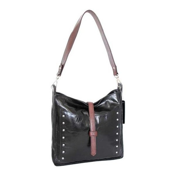 Shop Nino Bossi Women s Iyanna Hobo Handbag Black - US Women s One Size  (Size None) - Free Shipping Today - Overstock.com - 20341205 914aba67f9