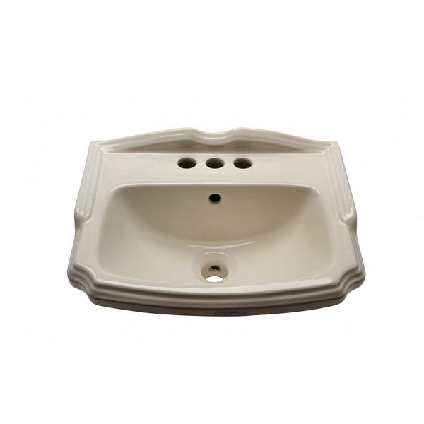 Bathroom Wall Mount Sink Small Bone China Cloakroom 19 inch