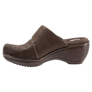 SoftWalk Womens Memphis Leather Textured Clogs - 10.5 narrow (aa,n)