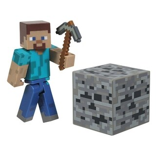 "Minecraft 3"" Series 1 Figure With Accessories: Steve"
