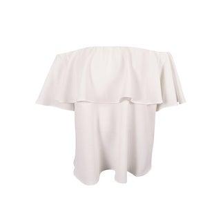 RACHEL Rachel Roy Women's Plus Size Ruffled Off-The-Shoulder Blouse (3X, White) - White - 3x