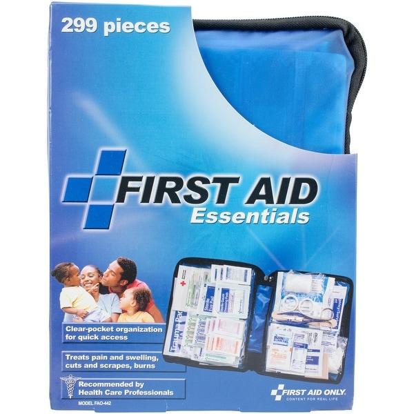 First Aid Essentials Kit-Blue Zip Case W/299 Pieces