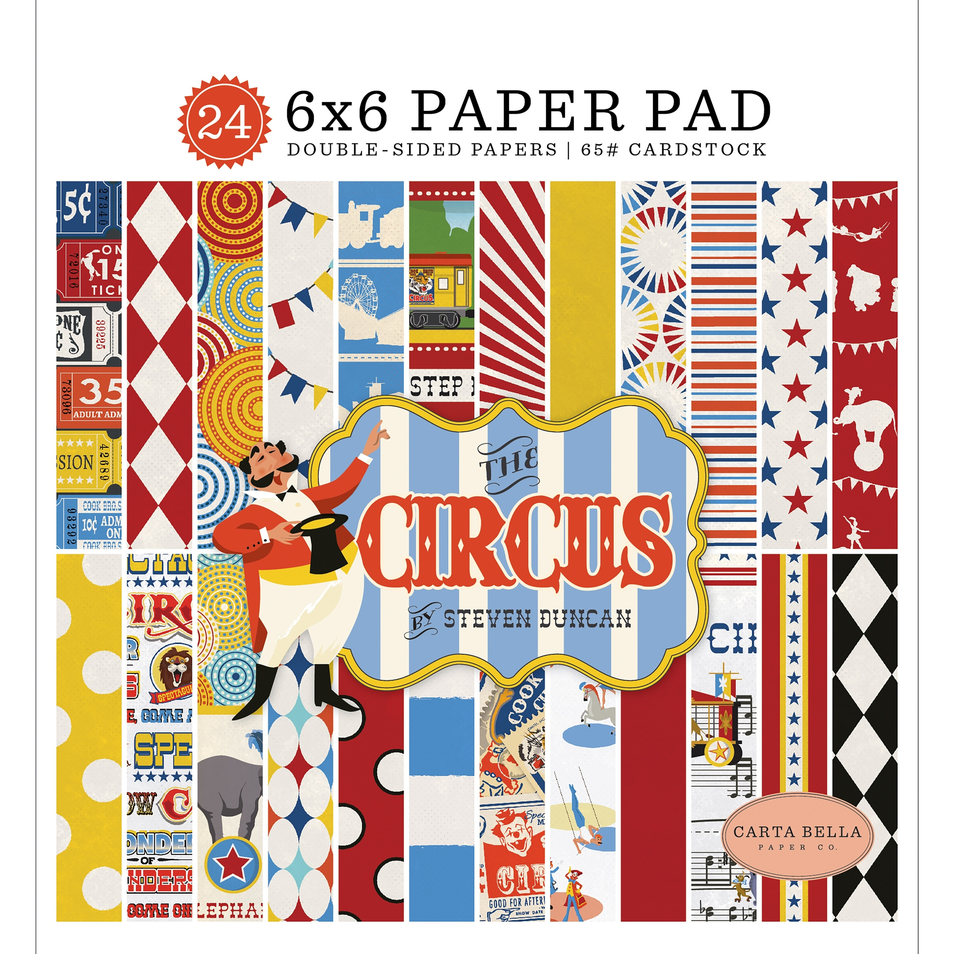"""Bobunny Single-sided Paper Pad 6/""""x6/"""" 36//pkg-banner Year 12 Designs//3 Each"""