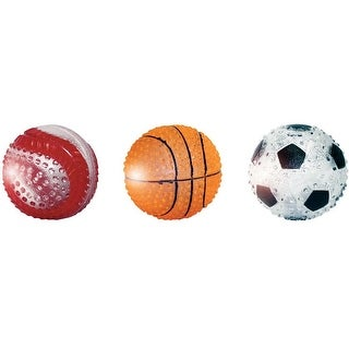 "MultiPet 51089 TPR Light Up Sport Ball Dog Toy, 3"", Assorted Color"