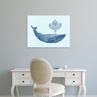 Easy Art Prints Terry Fan's 'Damask Whale Option' Premium Canvas Art