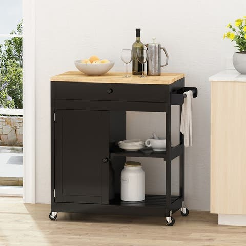 Telfair Kitchen Cart with Wheels by Christopher Knight Home