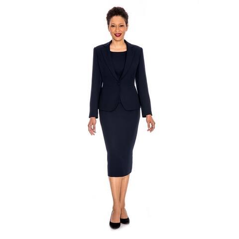 Giovanna Signature Women's Notch Collar 3-pc Skirt Suit