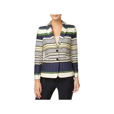 Tommy Hilfiger Womens Blazer Striped 2 Button