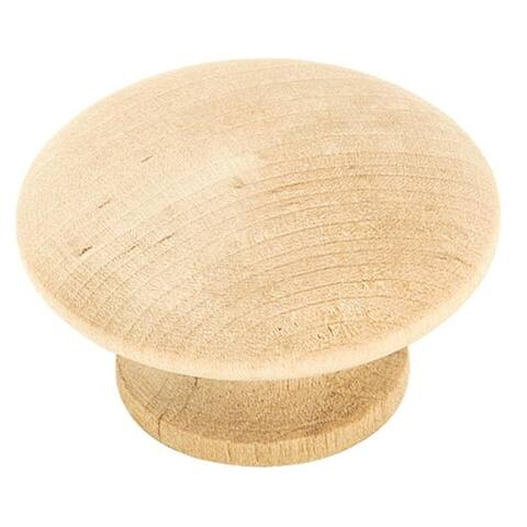 "Amerock BP813WD Wood Cabinet Round Knob, 1-1/2"", Per Package 2"