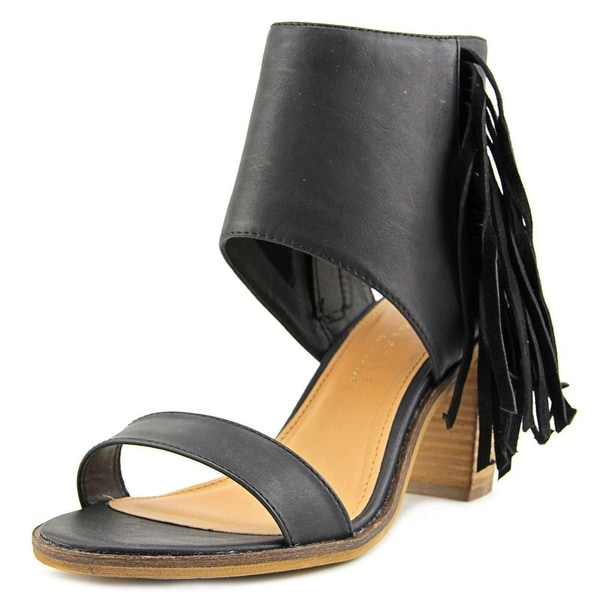 Very Volatile Vermont Women Open Toe Leather Black Sandals