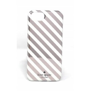 Kate Spade New York Diagonal Stripe Protective Rubber Case For iPhone 8 / iPhone 7 / iPhone 6 - Rose Gold Cream