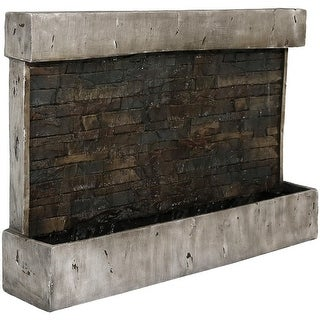 Sunnydaze Ancient Outdoor Wall Waterfall Fountain 24 Inch Tall