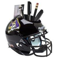 East Carolina Pirates Black NCAA Football Schutt Mini Helmet Desk Caddy