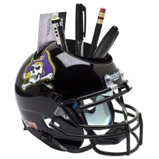 East Carolina Pirates Black NCAA Football Schutt Mini Helmet Desk Caddy