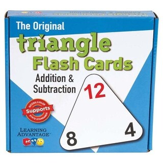 Learning Advantage Triangle Flashcards Add & Sub, Pack of 3