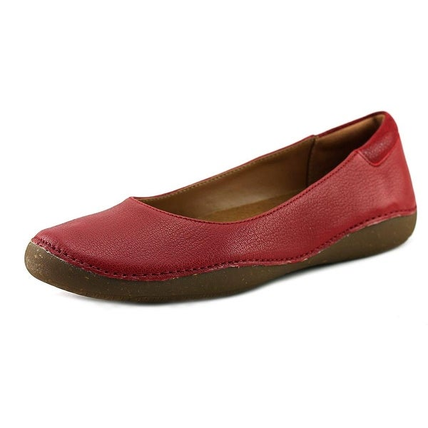 5f6c1f3cd88 Shop Clarks Artisan Autumn Sun Women Round Toe Leather Red Flats ...