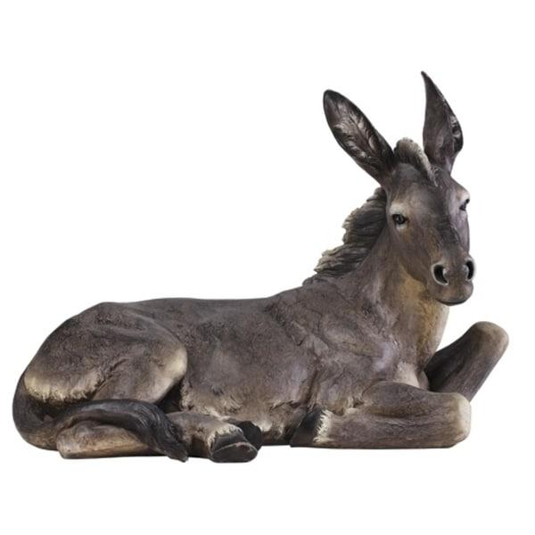 "39"" Joseph's Studio Seated Donkey Indoor/Outdoor Christmas Nativity Statue"