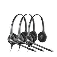 Plantronics SupraPlus HW261N Stereo Noise-Canceling Corded Headset (3 Pack)