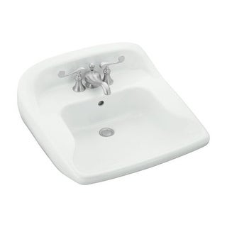 "Sterling 442034 Worthington 20-15/16"" Wall Mount Bathroom Sink With Three Holes Drilled And Overflow"