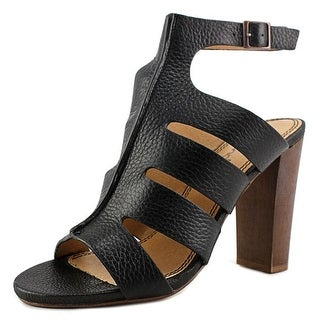 Splendid Jamey Women Open-Toe Leather Black Slingback Sandal