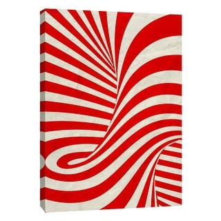 """PTM Images 9-108999  PTM Canvas Collection 10"""" x 8"""" - """"Red Swirls B"""" Giclee Abstract Art Print on Canvas"""