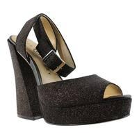 Katy Perry Womens Kp0005-001 Black Open Toe Heels Size 8