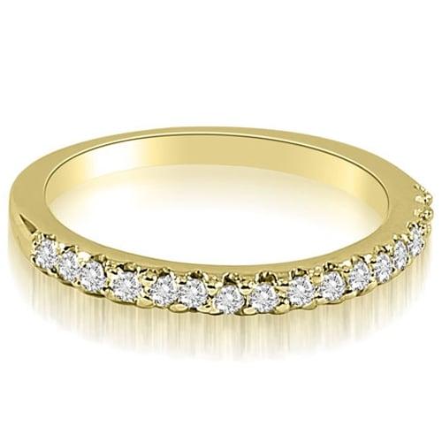 0.17 cttw. 14K Yellow Gold Round Cut Diamond Wedding Band