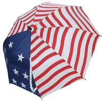 "JEF World of Golf USA 62"" Dual Canopy Umbrella - stars and stripes"